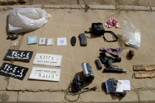 An assortment of improvised explosive device materials and mの写真素材 [FYI02102990]