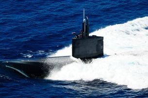 The fast-attack submarine USS Alexandria.の写真素材 [FYI02103095]