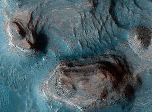 Mesas in the Nilosyrtis Mensae region of Mars.の写真素材 [FYI02103137]