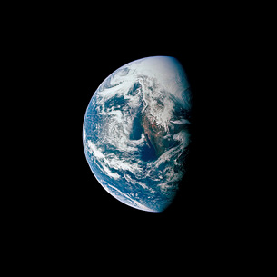 View of Earth taken from the Apollo 13 spacecraft.の写真素材 [FYI02103221]