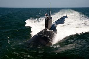 The Virginia-class attack submarine USS California.の写真素材 [FYI02103286]