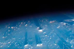 Earth's limb at sunset.の写真素材 [FYI02103354]