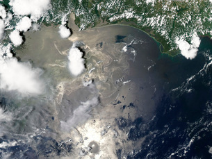 Oil slick in the Gulf of Mexicoの写真素材 [FYI02103373]