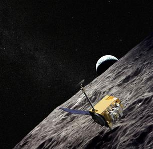 Artist Concept of the Lunar Reconnaissance Orbiter.のイラスト素材 [FYI02103435]