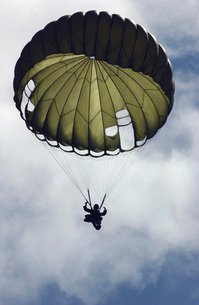 An Armed Forces of the Philippines paratrooper wearing an MCの写真素材 [FYI02103690]
