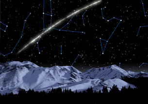 Concept of a newly discovered stream of ancient stars.のイラスト素材 [FYI02103835]