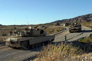 M1A1 Abrams main battle tanks.の写真素材 [FYI02104162]