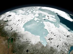 Hudson Bay sea ice on April 29, 2006.の写真素材 [FYI02104246]