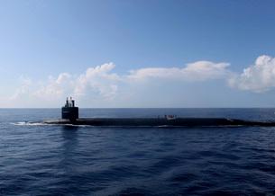 Ballistic missile submarine USS Rhode.の写真素材 [FYI02104379]