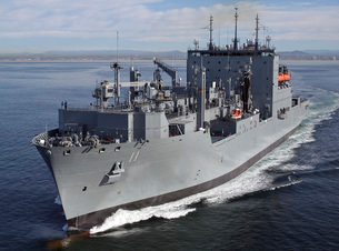 Military Sealift Command dry cargo and ammunition ship USNSの写真素材 [FYI02104449]