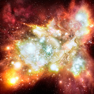 Artist's impression of the biggest and brightest star-birthのイラスト素材 [FYI02104482]