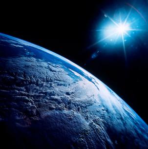 Shining star over Earth.の写真素材 [FYI02104488]