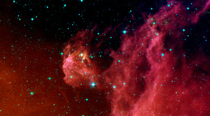 Young stars emerge from Orion's head.の写真素材 [FYI02104570]