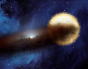 Illustration of a bright star called Epsilon Aurigae.のイラスト素材 [FYI02104657]