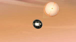 Artist's concept of the Mars Science Laboratory Curiosity roのイラスト素材 [FYI02105070]