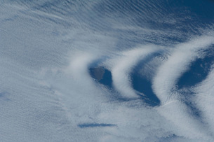 Wave clouds near Ile aux Cochons.の写真素材 [FYI02105190]
