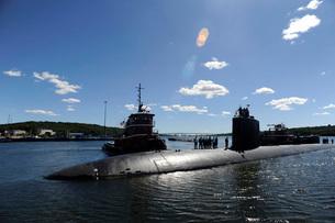 Los Angeles-class submarine USS Annapolis.の写真素材 [FYI02105280]