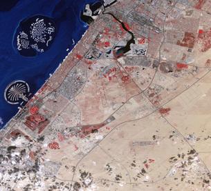 False-color image of part of Dubai.の写真素材 [FYI02105318]