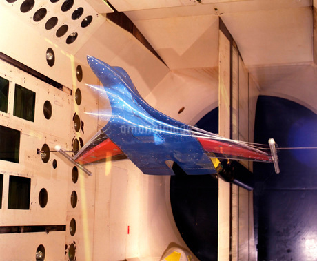 The Active Flexible Wing model undergoing tests in a wind tuの写真素材 [FYI02105345]