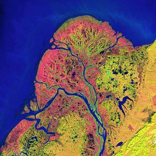 The Yukon Delta in southwest Alaska.の写真素材 [FYI02105627]