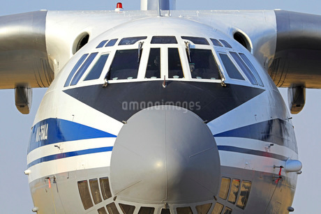 Close-up of a Russian Air Force Ilyushin Il-76 airliner.の写真素材 [FYI02105960]