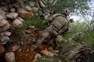 Provincial Reconstruction Team Kapisa's security element, Afghanistan.の写真素材 [FYI02106044]