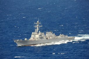The guided-missile destroyer USS Chung-Hoon.の写真素材 [FYI02106118]