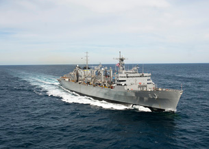 The Military Sealift Command fast combat support ship USNS Supply.の写真素材 [FYI02106297]