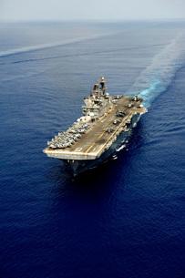 Amphibious assault ship USS Makin Island.の写真素材 [FYI02106538]