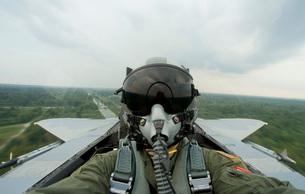 Self-portrait of an aerial combat photographer.の写真素材 [FYI02106543]
