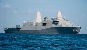The amphibious transport dock ship USS New Orleans.の写真素材 [FYI02106572]