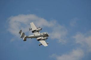 A Grumman OV-1 Mohawk in flight over Florida.の写真素材 [FYI02106665]