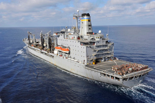 The Military Sealift Command fleet replenishment oiler USNS Rappahannock.の写真素材 [FYI02106690]