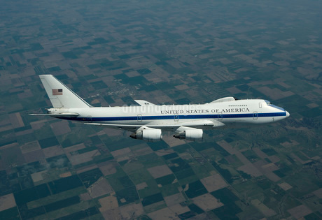 An E-4B National Airborne Operations Center aircraft.の写真素材 [FYI02106744]
