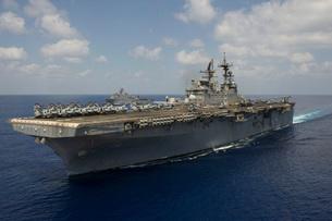 Amphibious assault ship USS Makin Island.の写真素材 [FYI02106756]