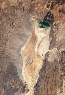 Natural-color image of the north end of the Suguta Valley in Kenya.の写真素材 [FYI02106826]
