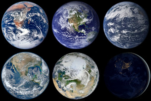 Image comparison of iconic views of planet Earth.の写真素材 [FYI02106920]