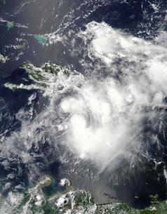Tropical Storm Emily approaching Haiti.の写真素材 [FYI02106966]