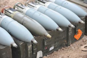 Ammunition for Iraqi T-72 tanks.の写真素材 [FYI02106968]