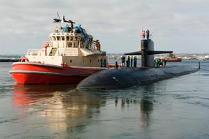 Los Angeles-class attack submarine USS San Francisco.の写真素材 [FYI02107048]