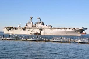 Amphibious assault ship USS Wasp.の写真素材 [FYI02107059]