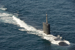 Los Angeles-class attack submarine USS Hampton.の写真素材 [FYI02107144]
