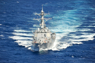 The guided-missile destroyer USS Chung-Hoon.の写真素材 [FYI02107202]