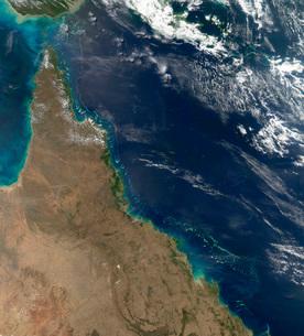 Satellite view of the Australian coast.の写真素材 [FYI02107286]