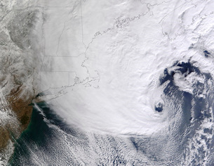 A winter storm over eastern New England.の写真素材 [FYI02107294]