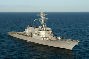 The guided-missile destroyer USS Laboon.の写真素材 [FYI02107302]
