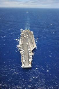 The aircraft carrier USS Nimitz.の写真素材 [FYI02107427]
