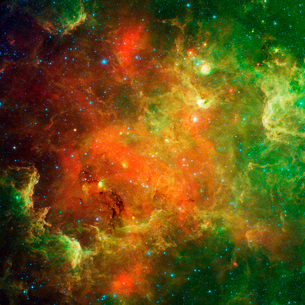 Clusters of young stars in the North American Nebula.の写真素材 [FYI02107631]