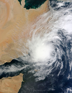 Tropical Storm Keila over the Arabian Peninsula.の写真素材 [FYI02107704]