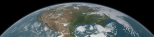 Panoramic view of planet Earth and the United States.の写真素材 [FYI02107811]